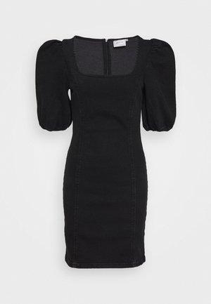 ASTRID SHORT DRESS - Vestido vaquero - washed black