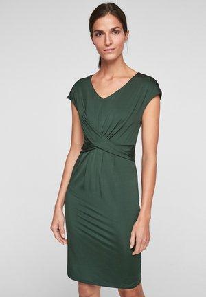 Shift dress - forest green