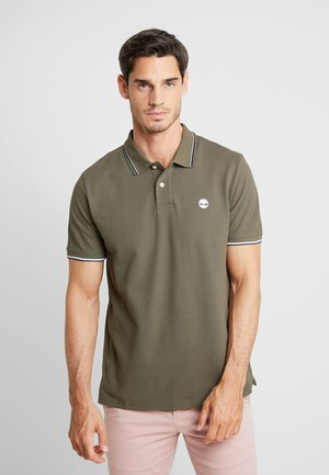 TIPPED - Poloshirt - grape leaf