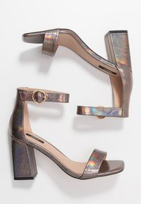 ONLY SHOES - ONLALYX - High heeled sandals - gunmetal - 3
