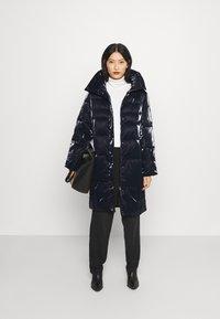 Guess - REGINA LONG JACKET - Winter coat - blue navy - 1