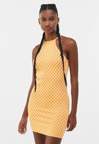 JACQUARD - Shift dress - orange