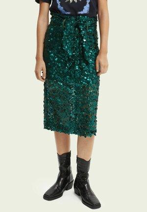 A-line skirt - teal