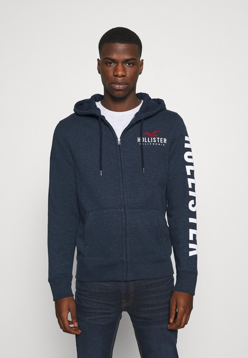 Hollister Co. - TECH LOGO UPDATE - Zip-up hoodie - navy