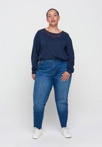 Zizzi - Sweatshirt - blue - 1