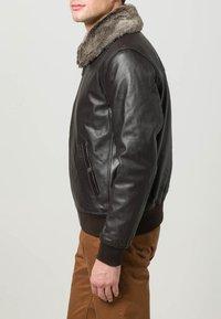 Schott - Leather jacket - dark brown - 3