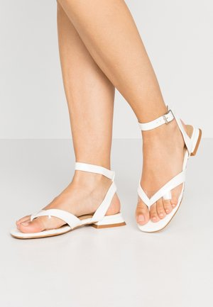 VEGAS - T-bar sandals - clear/ white