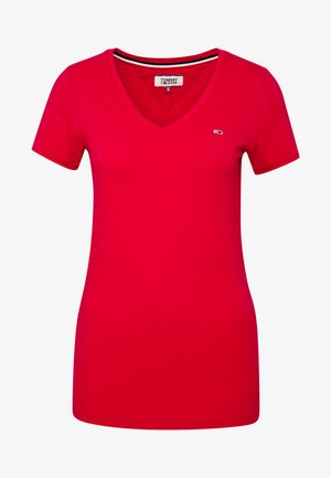 SHORTSLEEVE STRETCH TEE - T-shirt basique - deep crimson