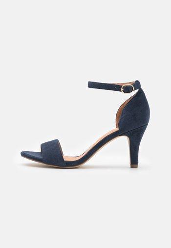 Sandals - navy blue