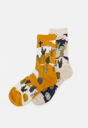ETTIE CACTUS SOCKS 2 PACK - Ponožky - sunflower yellow/cream