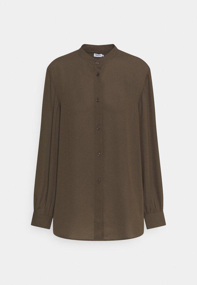 LAYLA BLOUSE - Button-down blouse - khaki