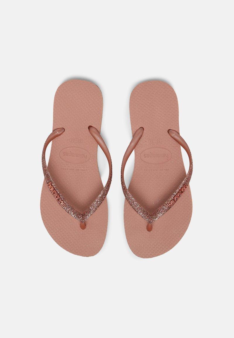 Havaianas - SLIM GLITTER - Chanclas de dedo - crocus rose
