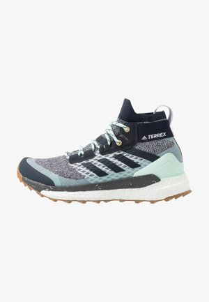 TERREX FREE HIKER - Outdoorschoenen - light solid grey/legend ink/purple tint