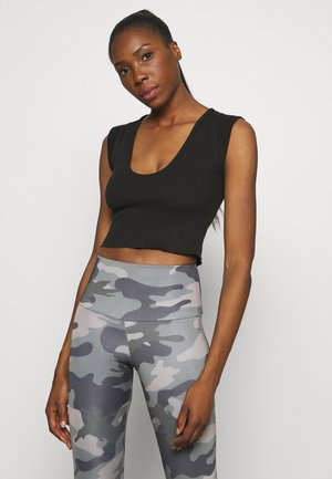 PERFECT DAY TANK - T-shirts med print - black