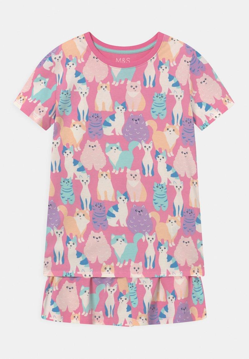 Marks & Spencer London - CAT SHORTIE - Pyjama set - multi-coloured