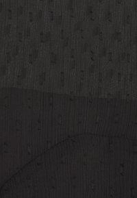 Simply Be - DOBBY SPOT TIERED MIDI DRESS - Denní šaty - black - 2