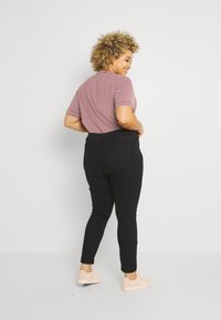 Even&Odd Curvy - Jeans Skinny Fit - black denim - 2