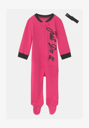 FOOTED COVERALL SET - Śpioszki - dark hyper pink
