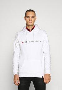 Denim Project - LOGO HOODIE - Felpa con cappuccio - white - 0
