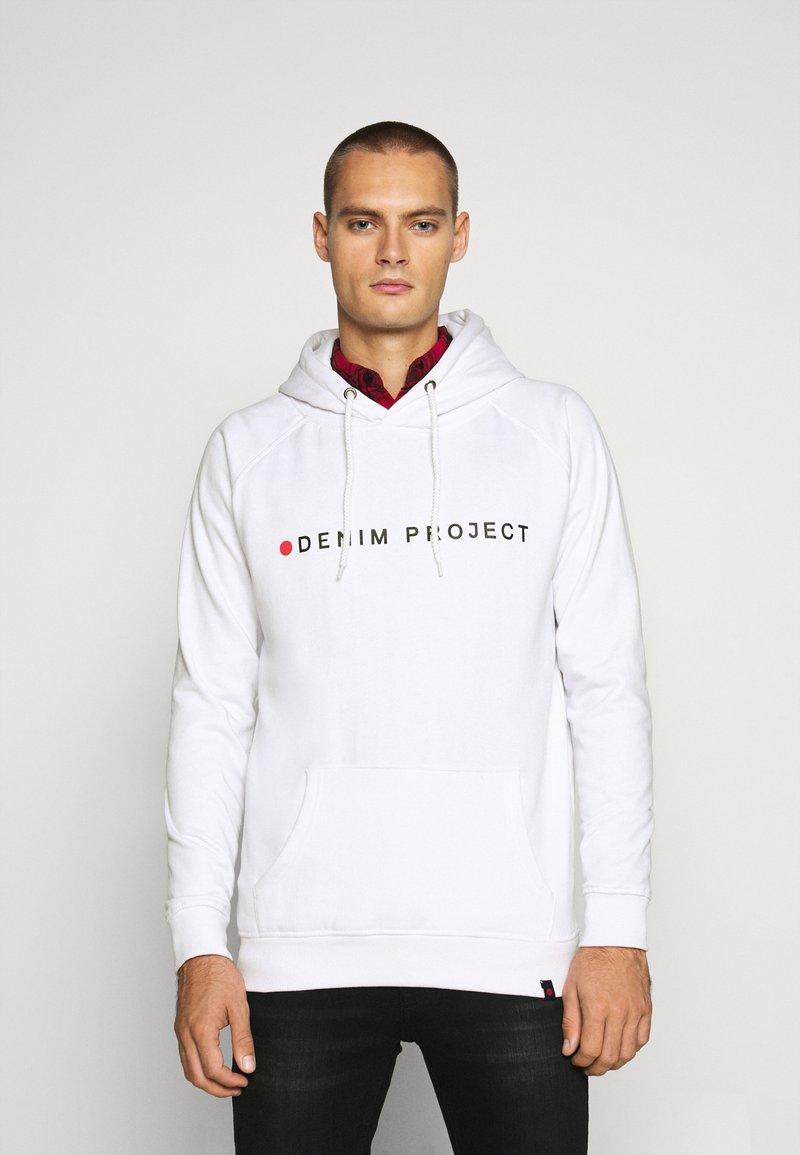 Denim Project - LOGO HOODIE - Felpa con cappuccio - white