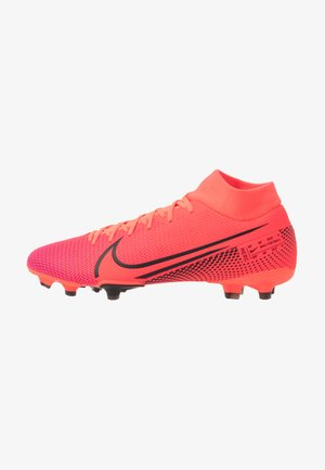 MERCURIAL 7 ACADEMY FG/MG - Moulded stud football boots - laser crimson/black