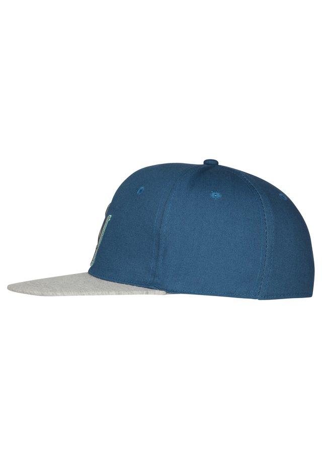 HOMEBASE - Czapka z daszkiem - blau/jersey peak