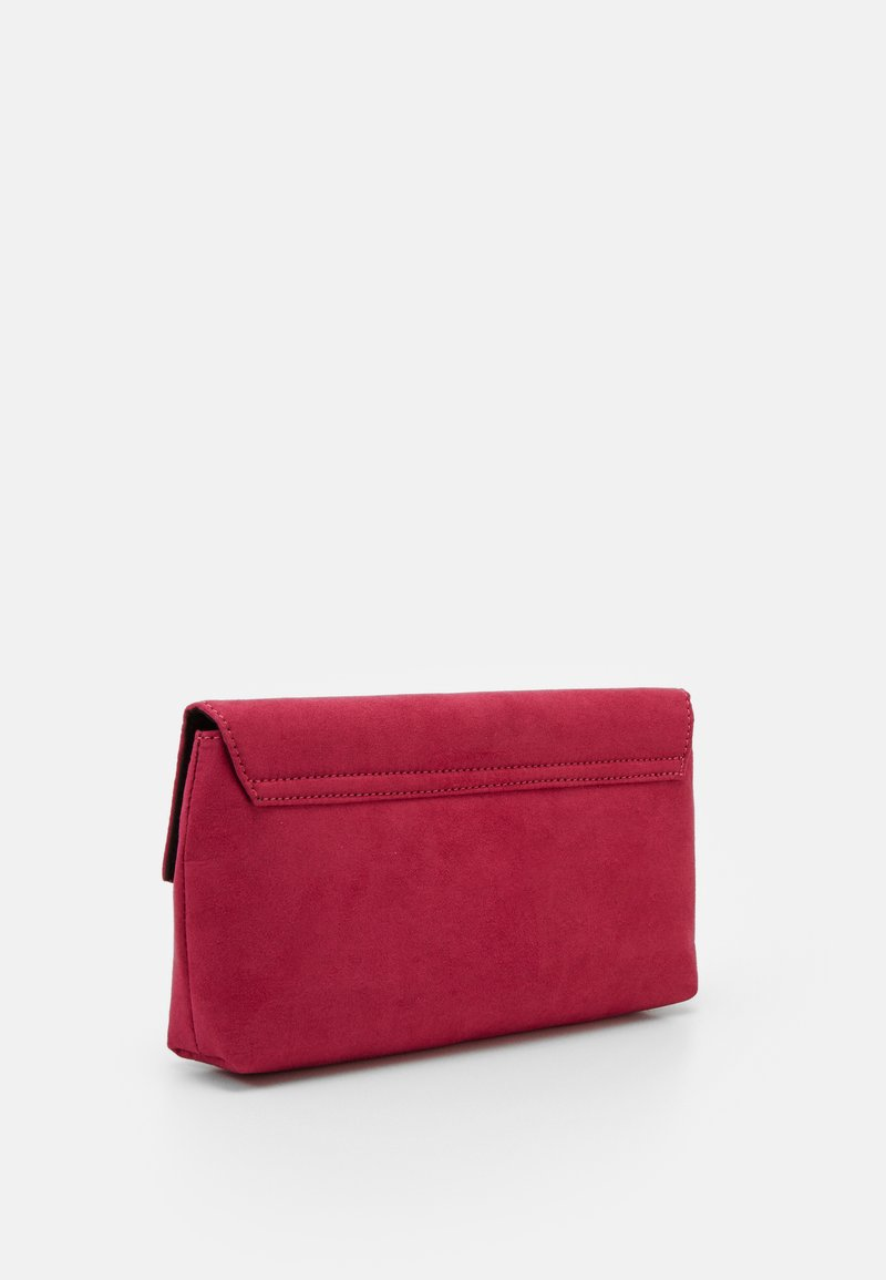Dorothy Perkins - STITCHED METAL BAR CLUTCH - Clutch - pink