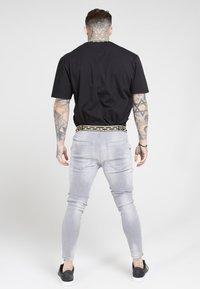 SIKSILK - ELASTICATED WAIST DISTRESSED - Zúžené džíny - grey - 2