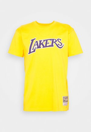 NBA LA LAKERS WORN LOGO WORDMARK TEE - Article de supporter - yellow