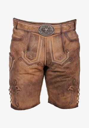 Leather trousers - braun