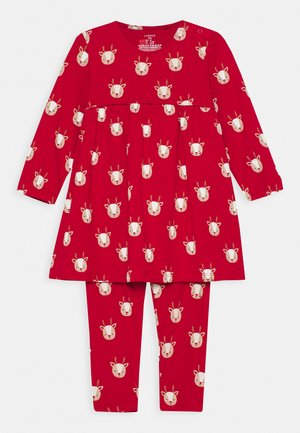 DRESS DEER SET - Leggings - Trousers - red