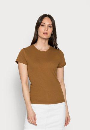 Jednoduché triko - brown ochre