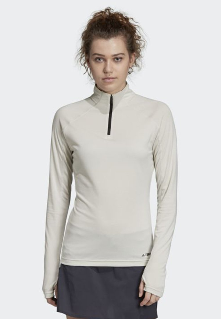 adidas Performance - TRACE ROCKER LONG-SLEEVE TOP - Sports shirt - white