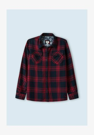 IRE - Button-down blouse - red/dark blue