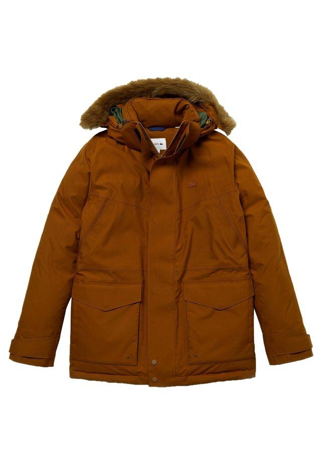 Down jacket - marron / vert kaki