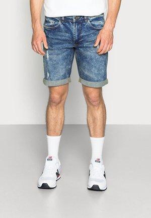 OSLO DESTROY - Denim shorts - frozen blue