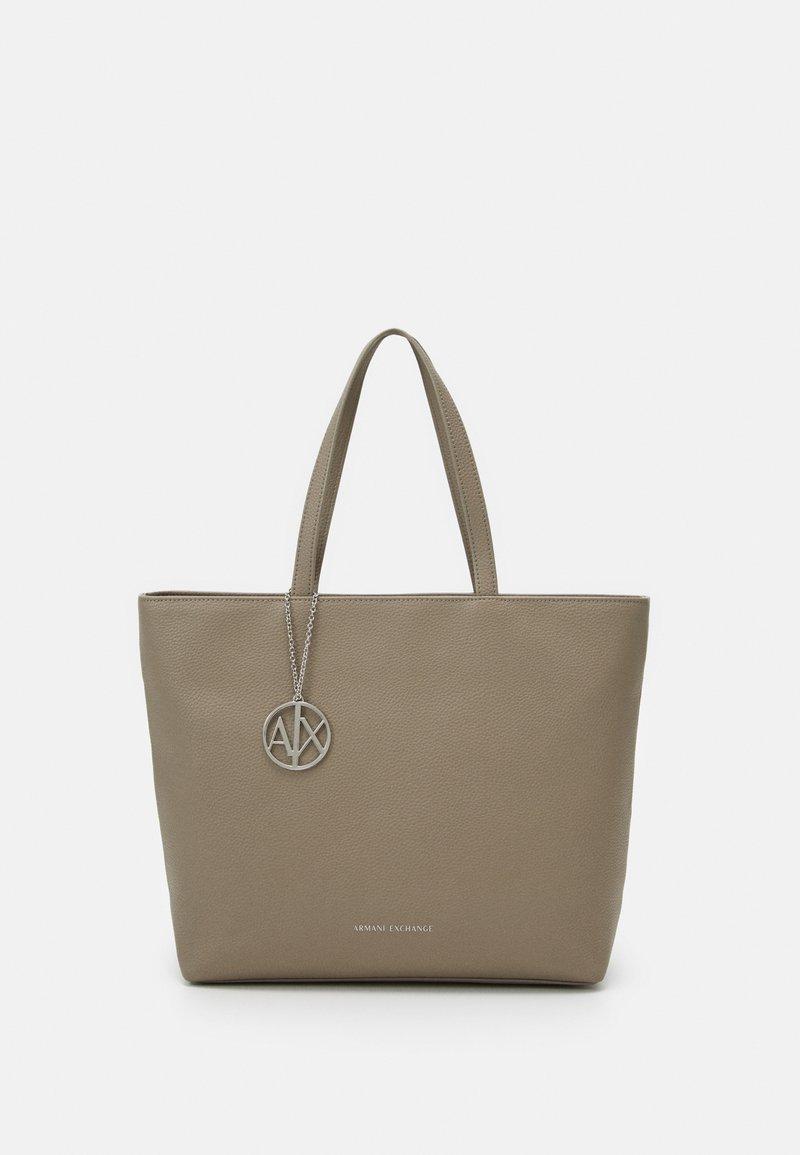Armani Exchange - ZIP TOP - Handbag - marrone scuro
