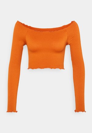 SEAM FREE OFF THE SHOULDER LONG SLEEVE - Long sleeved top - rust