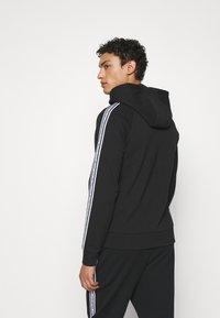Michael Kors - BLOCKED LOGO HOODIE - Zip-up sweatshirt - black - 2