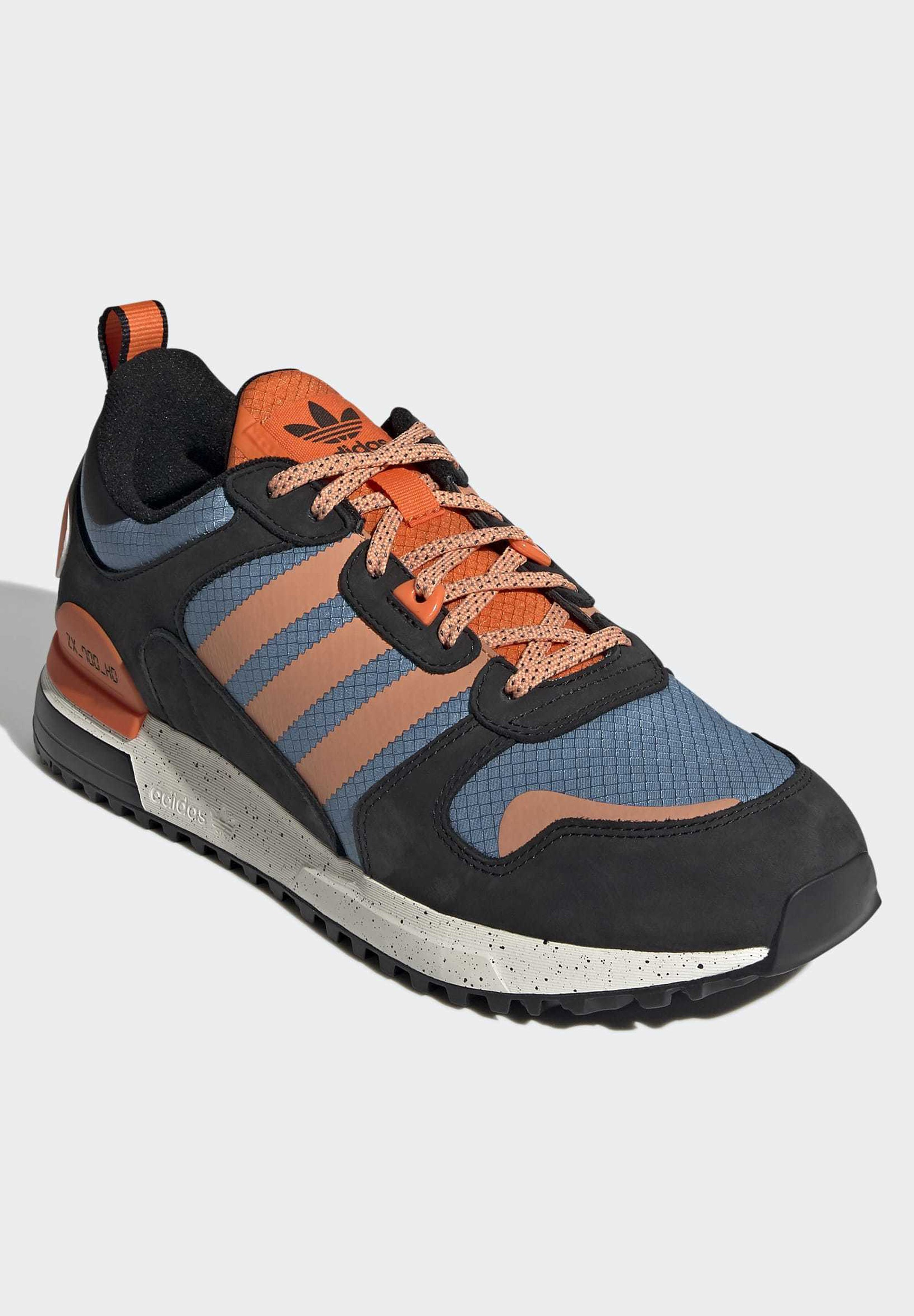 adidas Originals ZX Sneaker low core black easy orange orange/dunkelblau