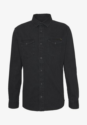 JJESHERIDAN SLIM - Košile - black denim