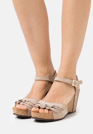 ELVIRA  - Platform sandals - beige