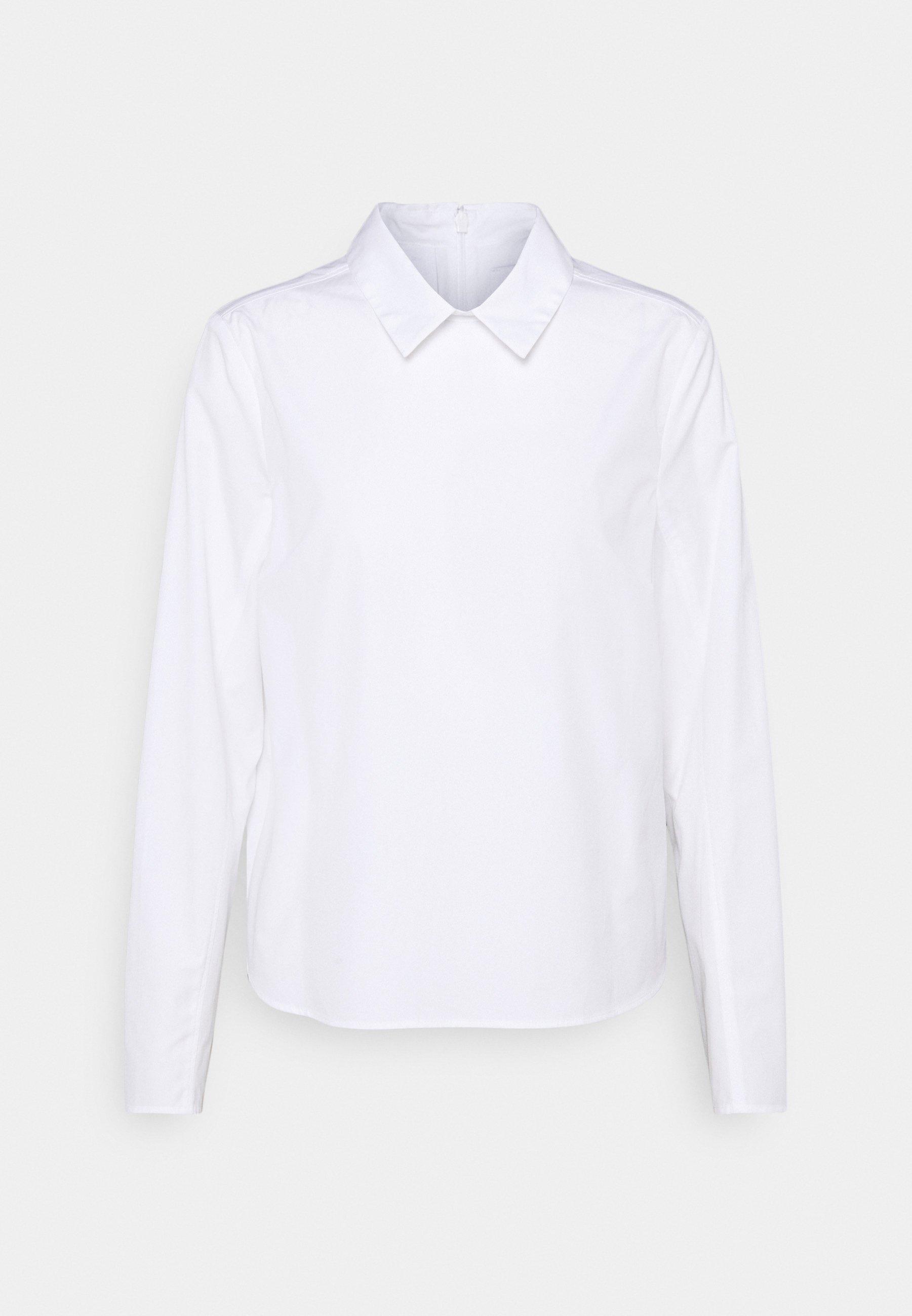 Women BOXY BLOUSE PLEATS ON BACK - Button-down blouse