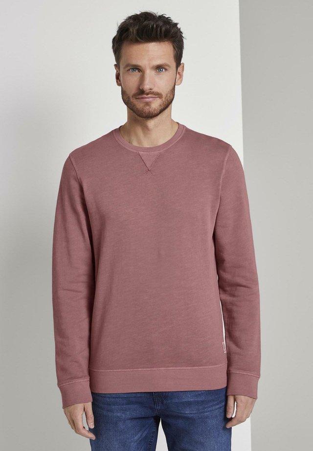 Sweatshirt - wine rose pink