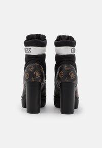 Guess - NASHIA - Botines con cordones - black brass - 3