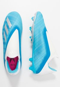 adidas Performance - X 19.3 LL FG - Moulded stud football boots - bright cyan/core black/shock pink - 1