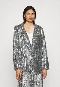 NA-KD - OVERSIZED SEQUIN - Short coat - silver - 0