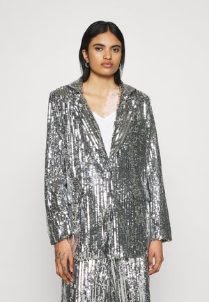OVERSIZED SEQUIN - Manteau court - silver
