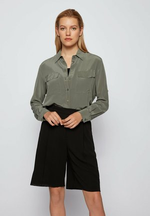BIVENTI - Button-down blouse - dark green