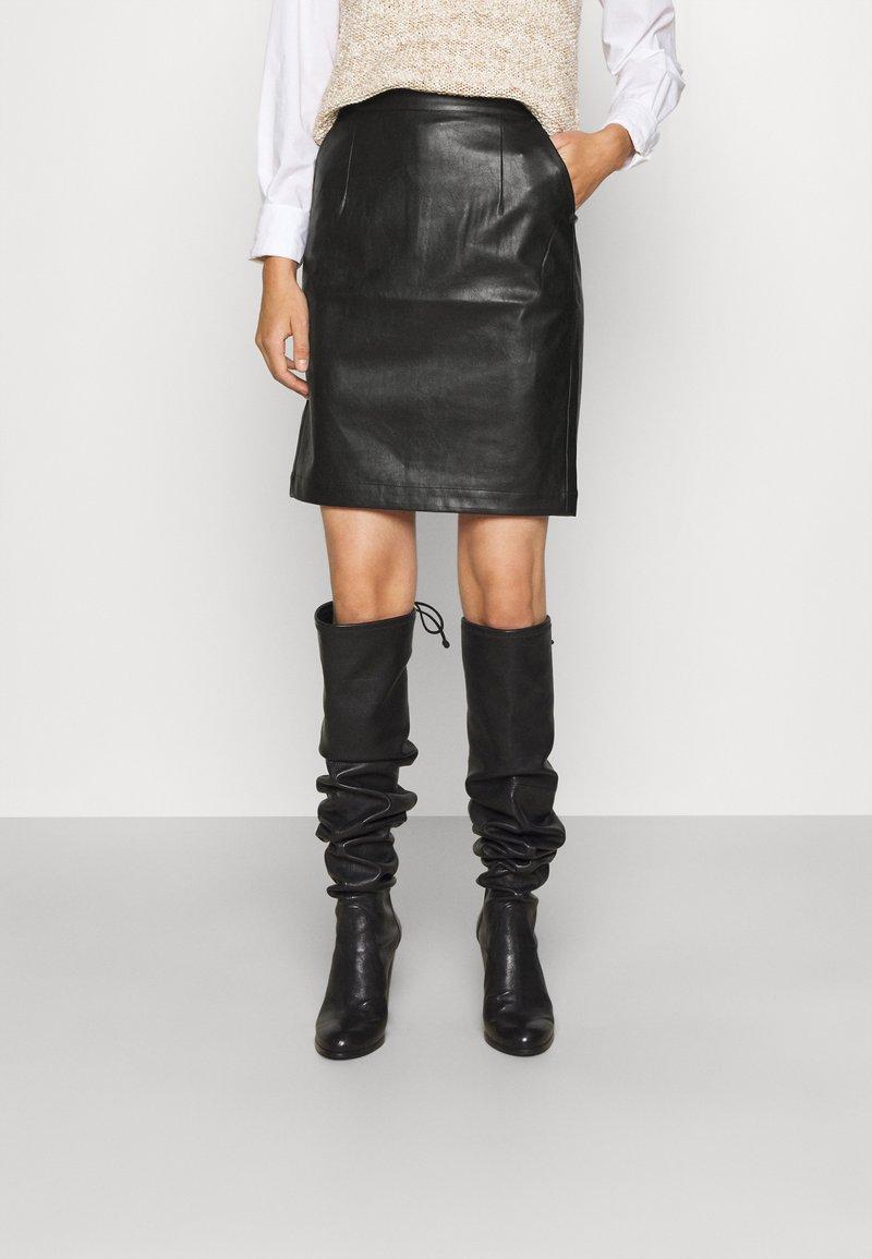 DESIGNERS REMIX - MARIE - Pencil skirt - black